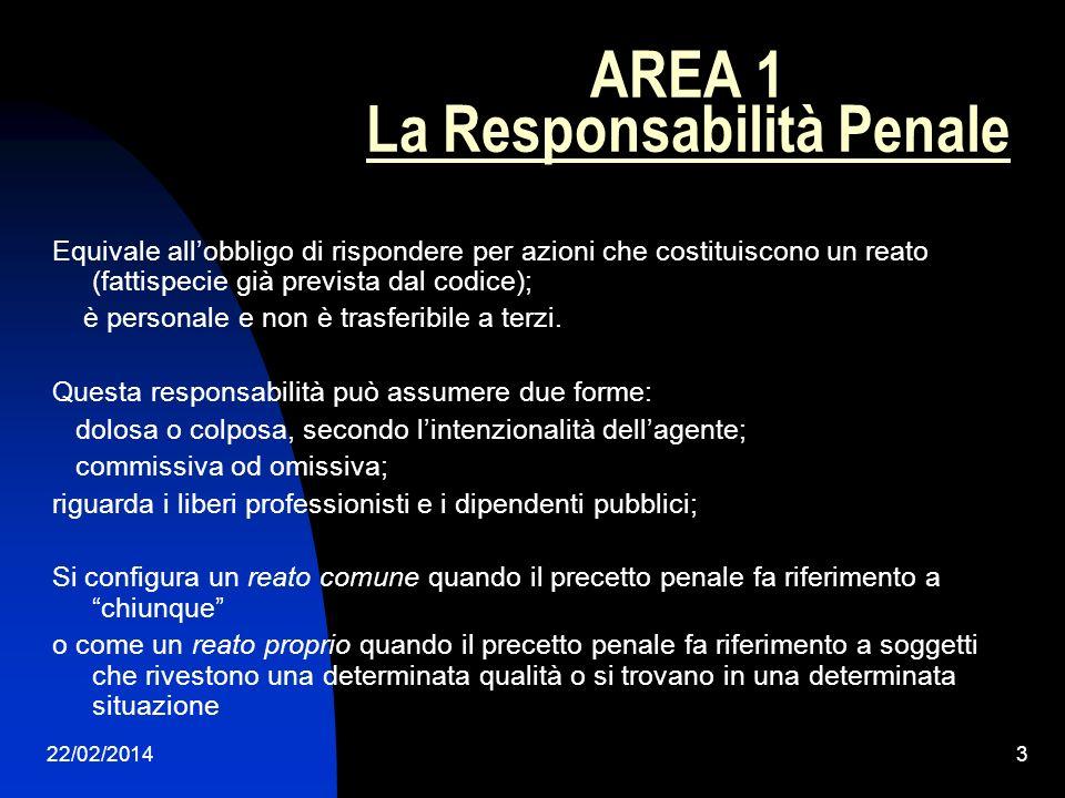 AREA 1 La Responsabilità Penale