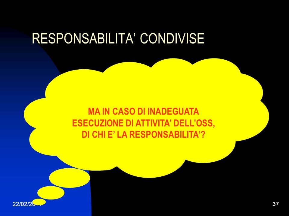 RESPONSABILITA' CONDIVISE