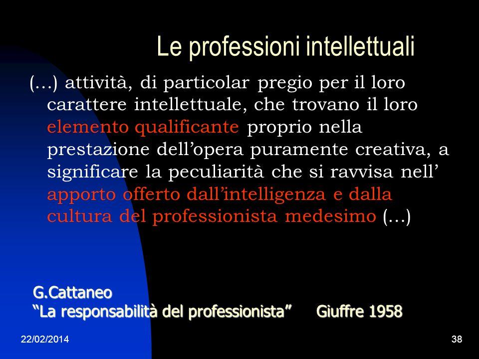 Le professioni intellettuali