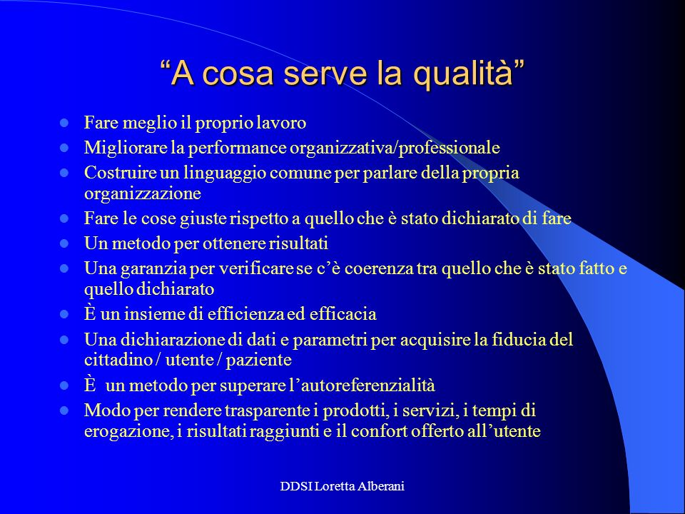 A cosa serve la qualità