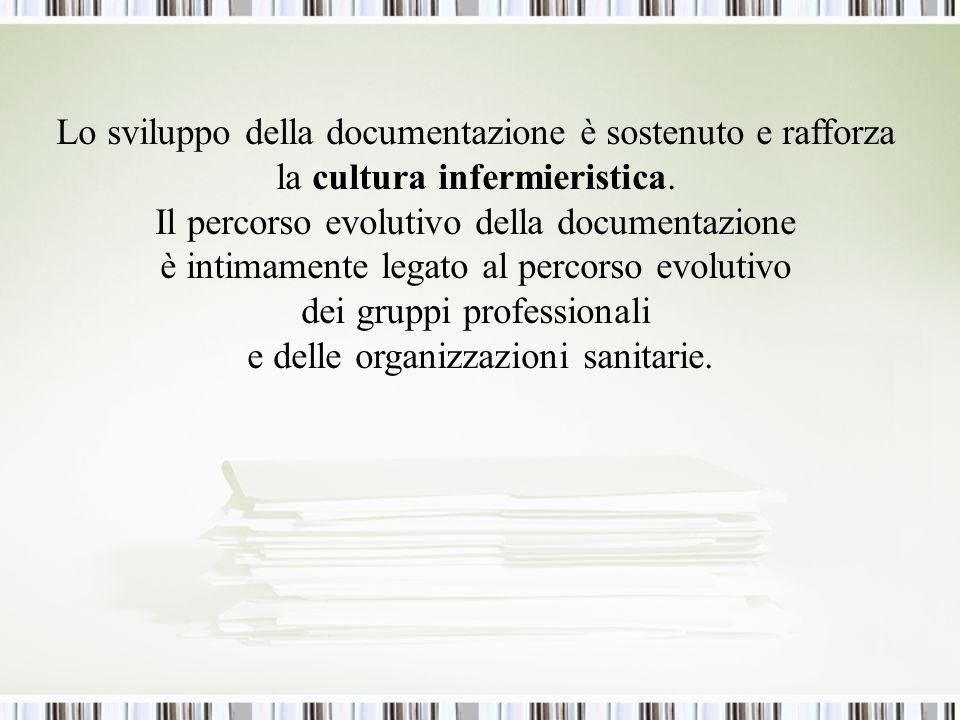 Lo sviluppo della documentazione è sostenuto e rafforza