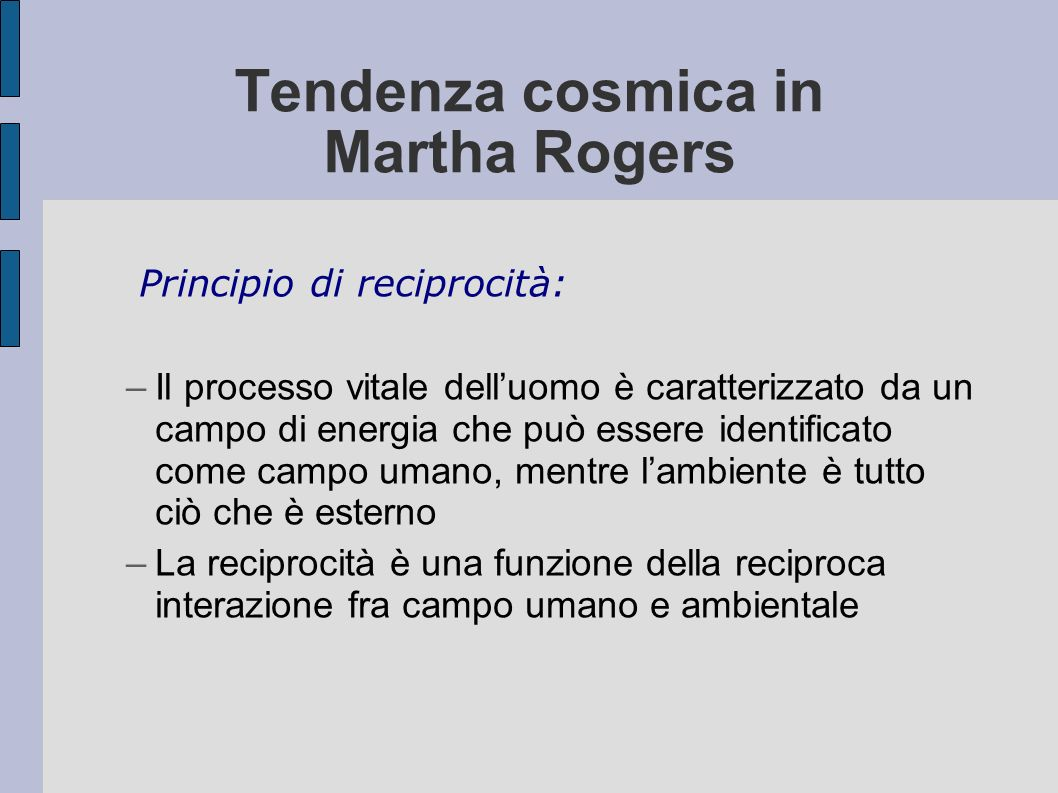 Tendenza cosmica in Martha Rogers