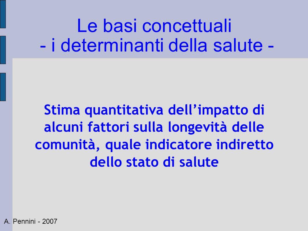 Le basi concettuali - i determinanti della salute -