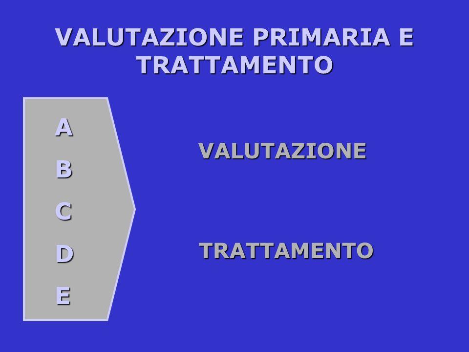 VALUTAZIONE PRIMARIA E TRATTAMENTO