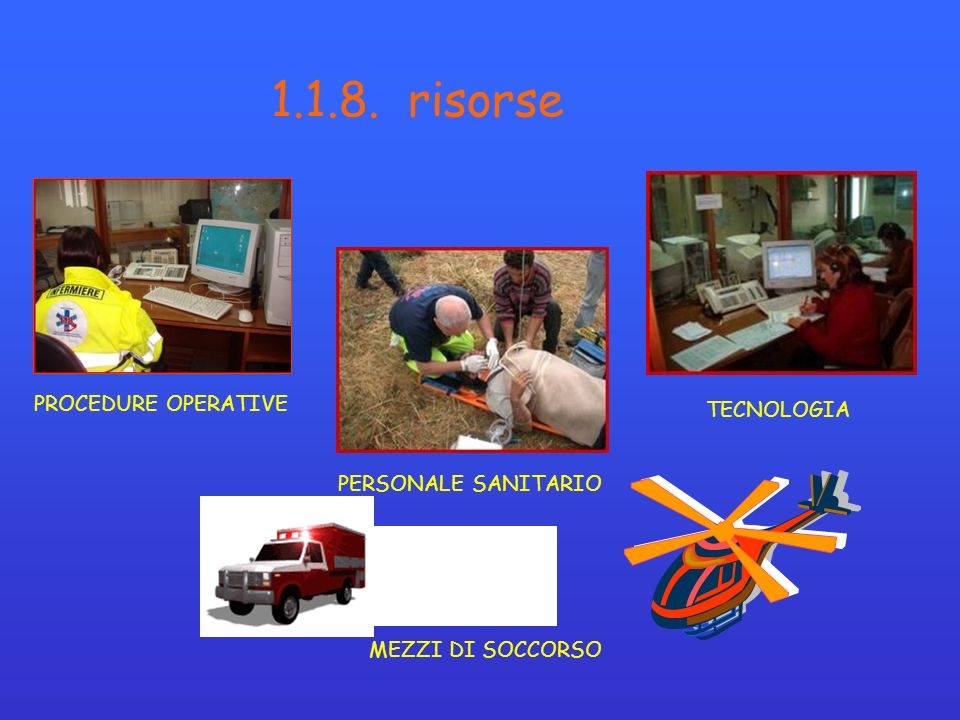 1.1.8. risorse PROCEDURE OPERATIVE TECNOLOGIA PERSONALE SANITARIO