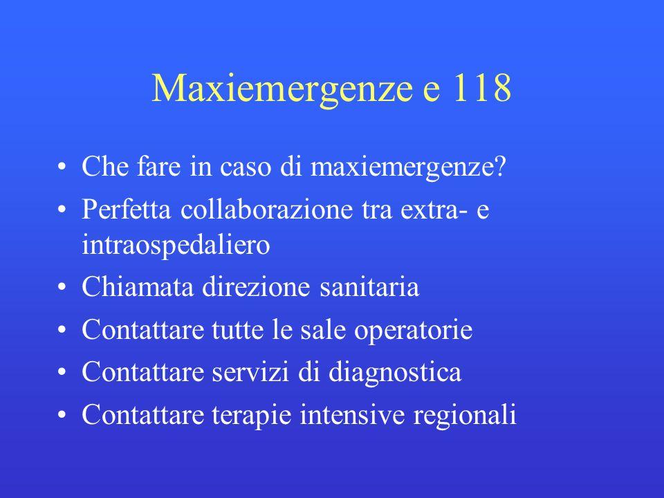 Maxiemergenze e 118 Che fare in caso di maxiemergenze