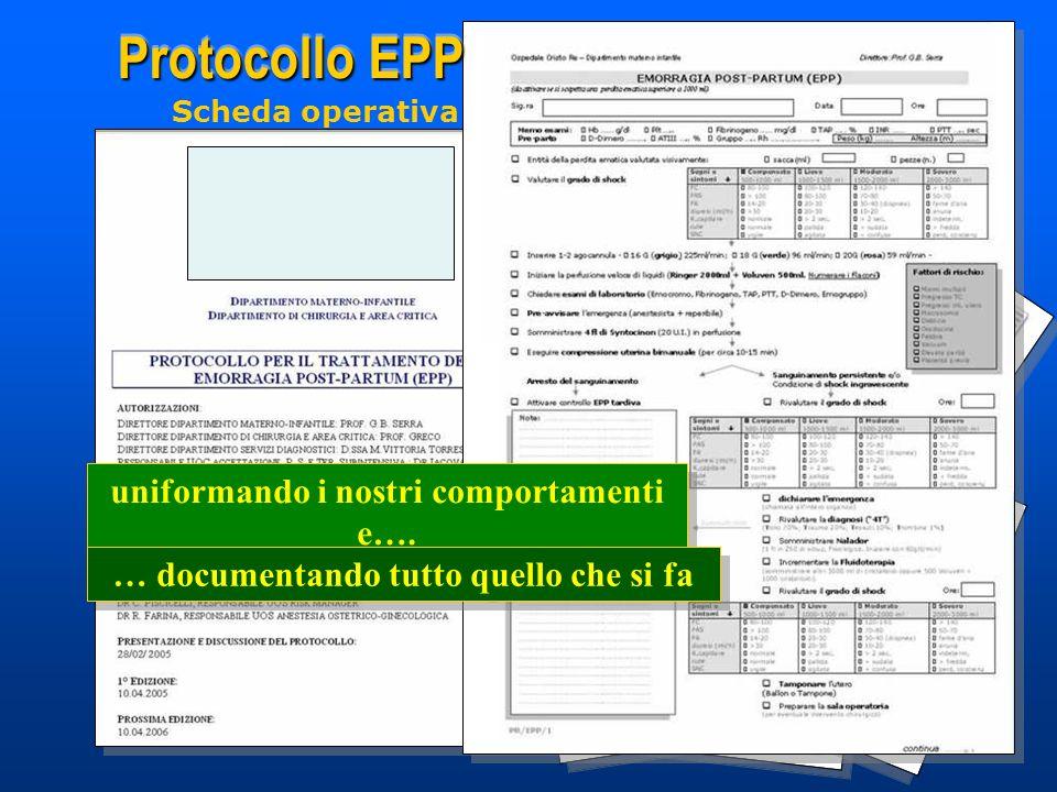 Protocollo EPP uniformando i nostri comportamenti e….