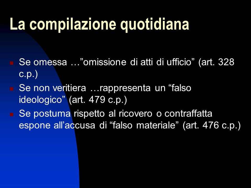 La compilazione quotidiana