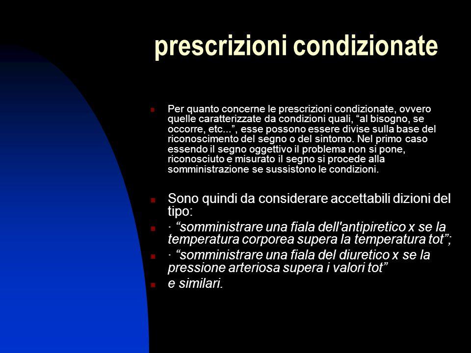 prescrizioni condizionate