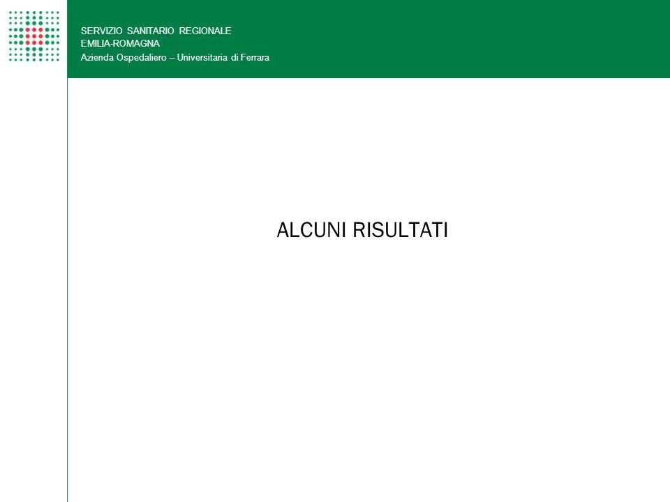 ALCUNI RISULTATI SERVIZIO SANITARIO REGIONALE EMILIA-ROMAGNA