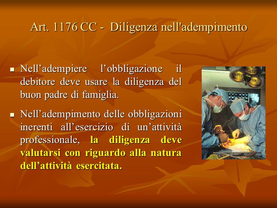 Art. 1176 CC - Diligenza nell adempimento