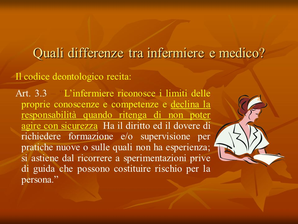 Quali differenze tra infermiere e medico