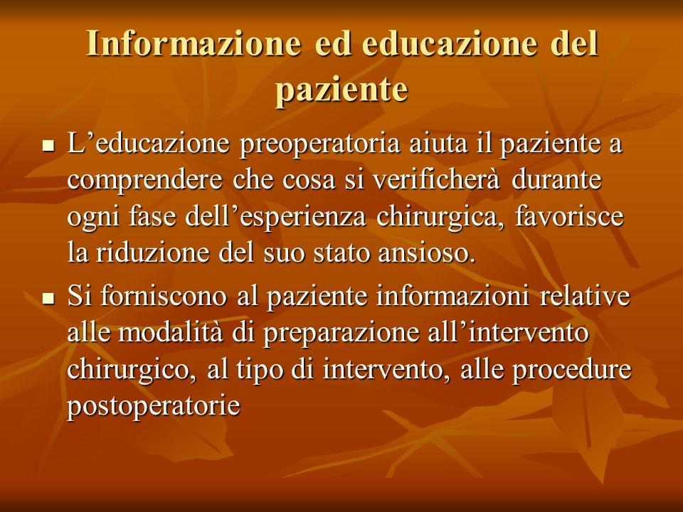Informazione ed educazione del paziente