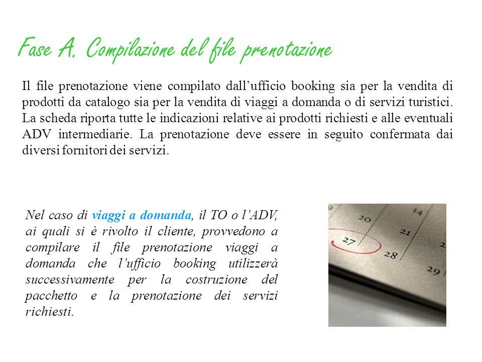 Fase A. Compilazione del file prenotazione