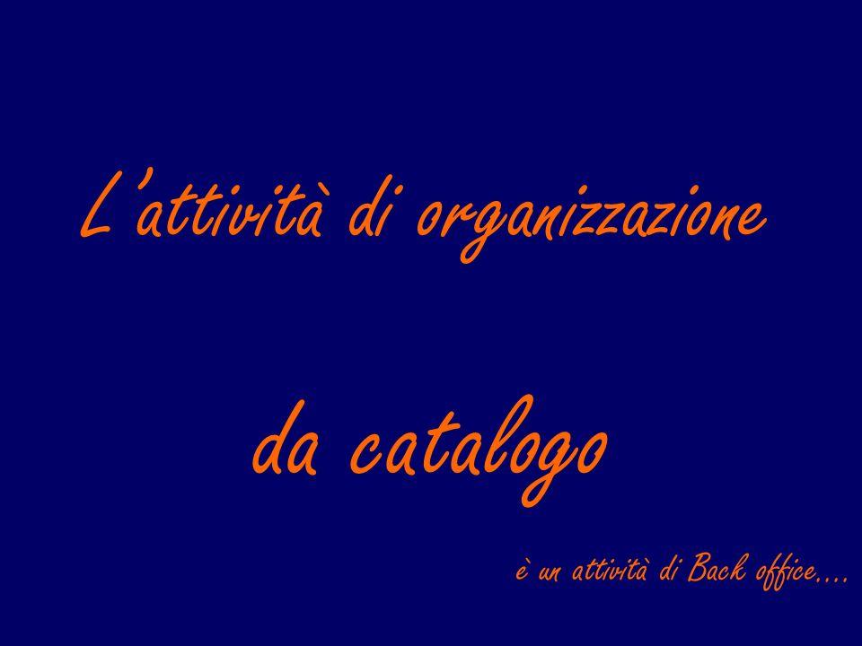 L'attività di organizzazione