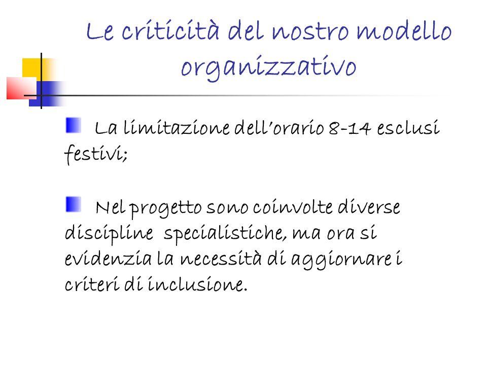 Le criticità del nostro modello organizzativo