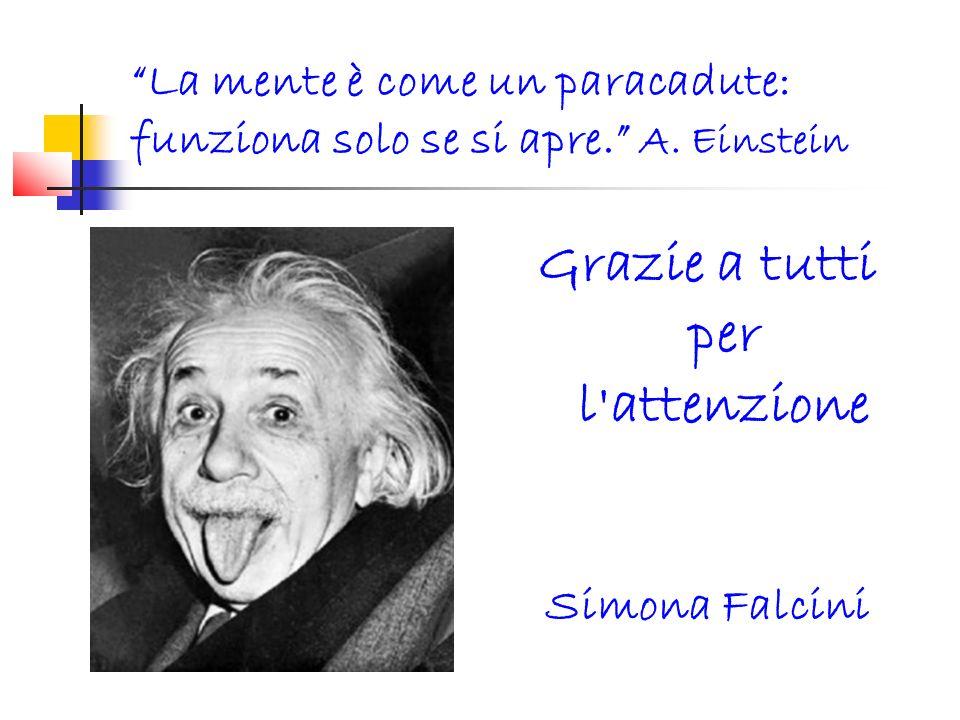La mente è come un paracadute: funziona solo se si apre. A. Einstein