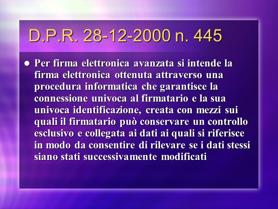 D.P.R. 28-12-2000 n. 445