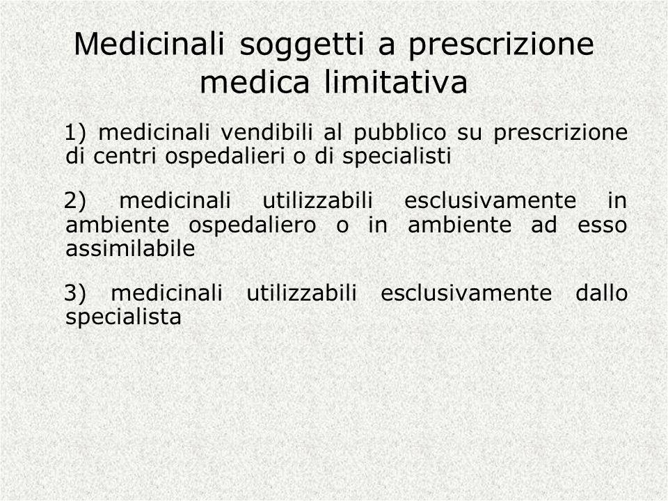 Medicinali soggetti a prescrizione medica limitativa