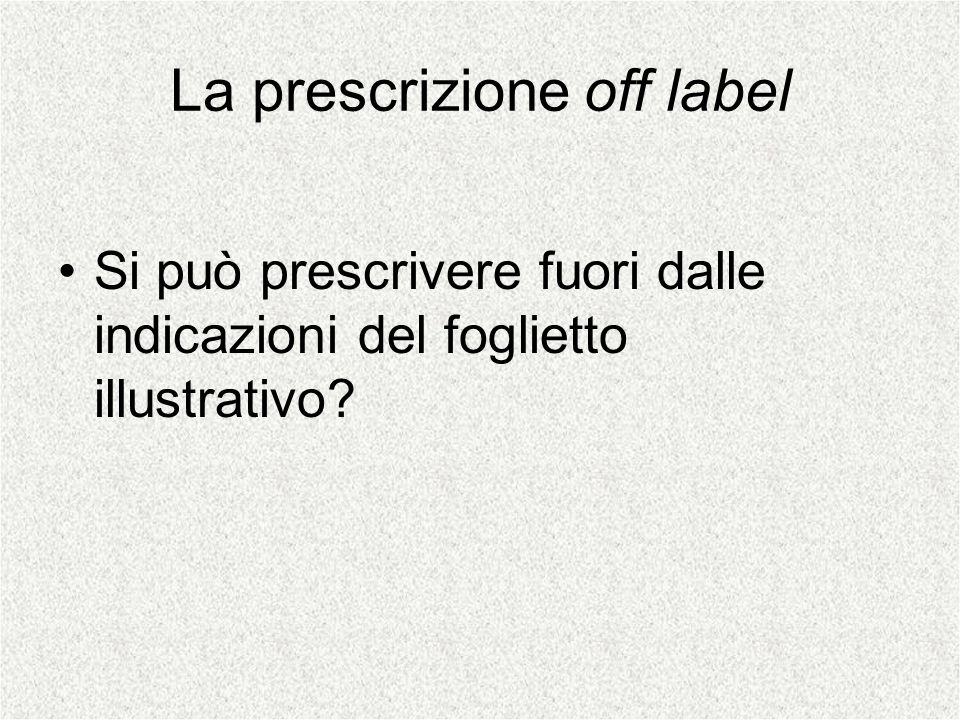 La prescrizione off label