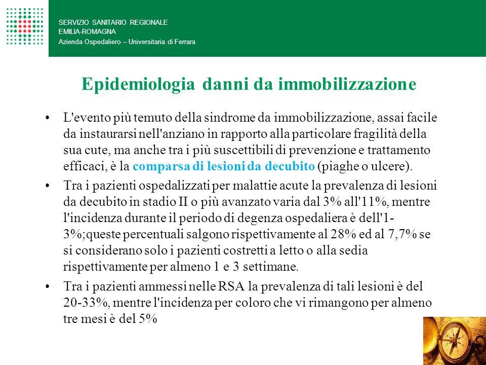 Epidemiologia danni da immobilizzazione