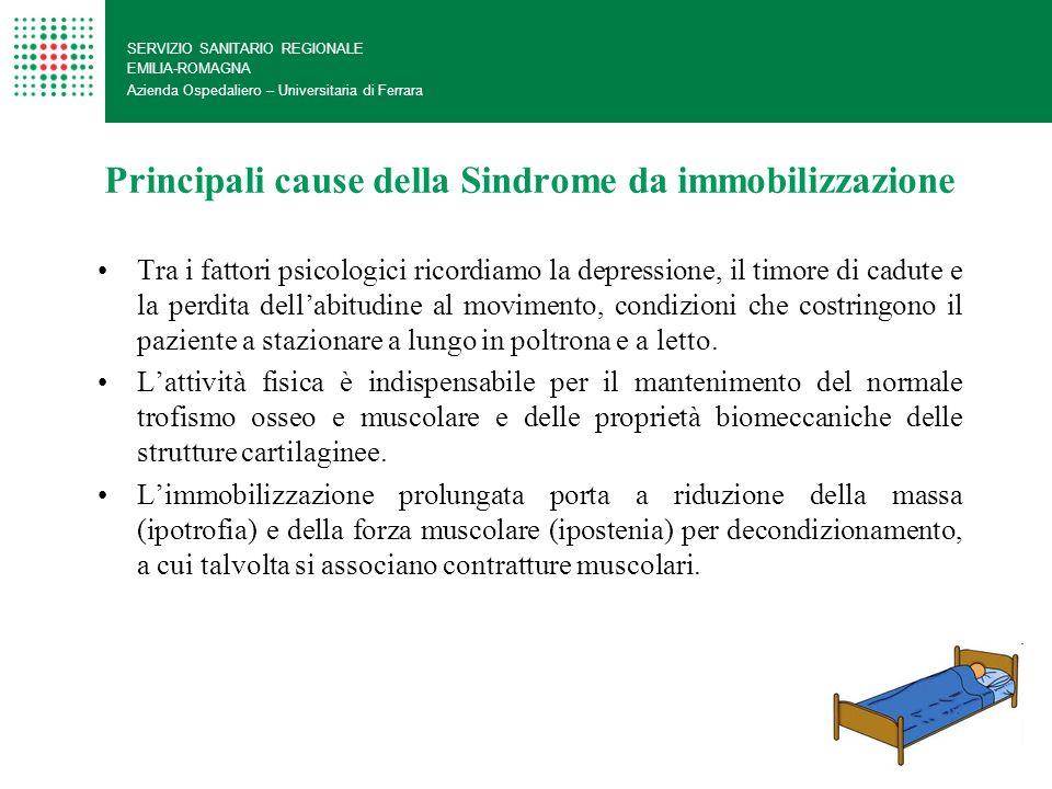 Principali cause della Sindrome da immobilizzazione