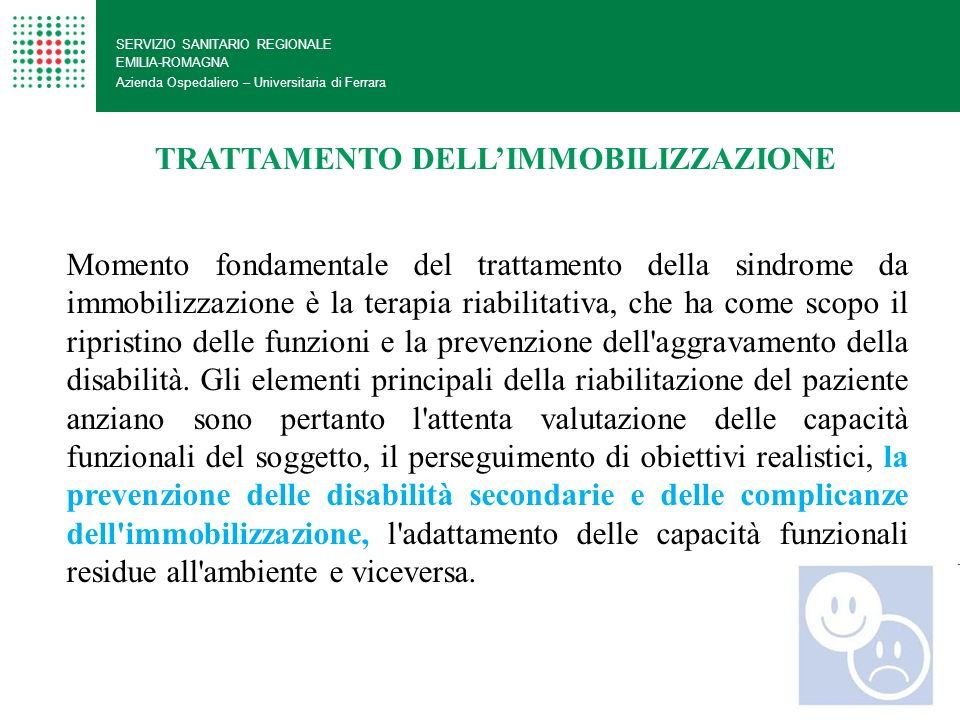 TRATTAMENTO DELL'IMMOBILIZZAZIONE