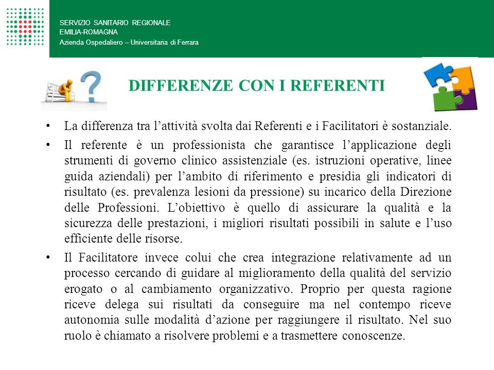 DIFFERENZE CON I REFERENTI
