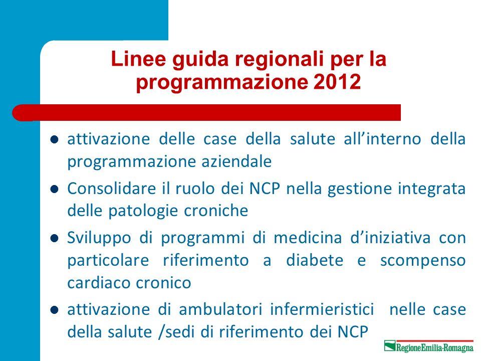 Linee guida regionali per la programmazione 2012