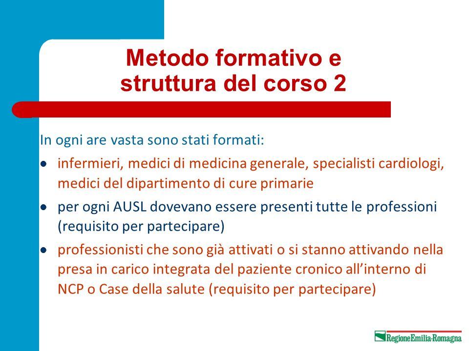 Metodo formativo e struttura del corso 2