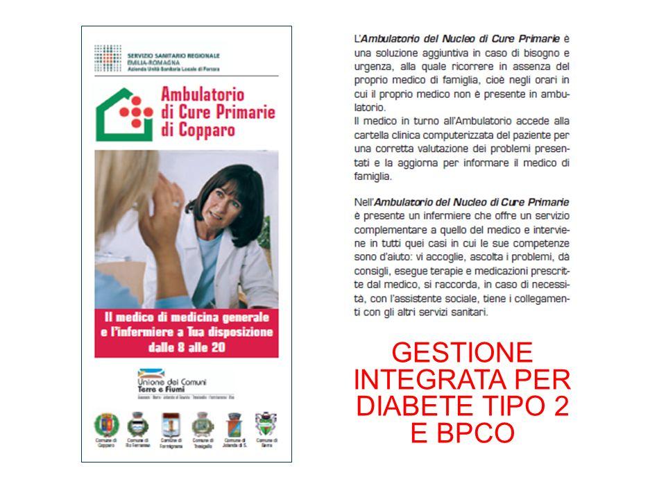 GESTIONE INTEGRATA PER DIABETE TIPO 2 E BPCO