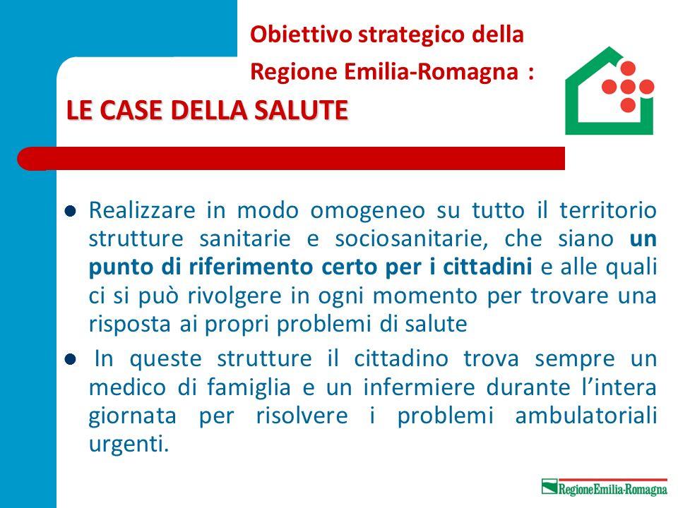 LE CASE DELLA SALUTE Obiettivo strategico della