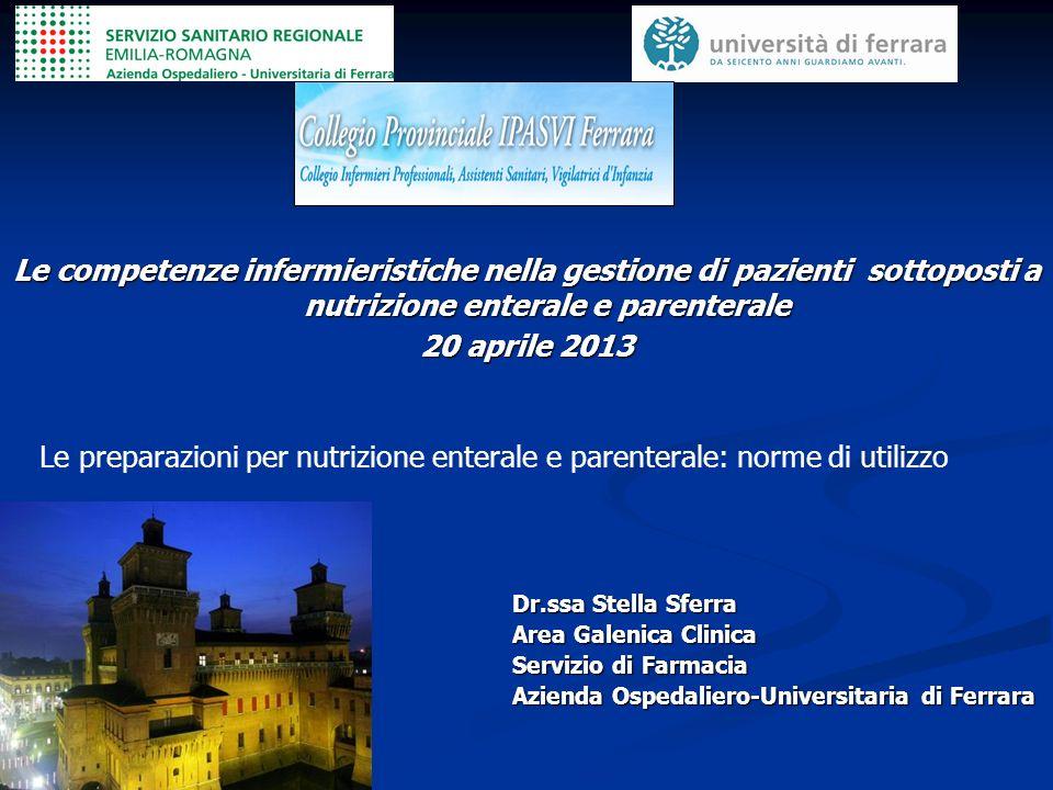 Le competenze infermieristiche nella gestione di pazienti sottoposti a nutrizione enterale e parenterale
