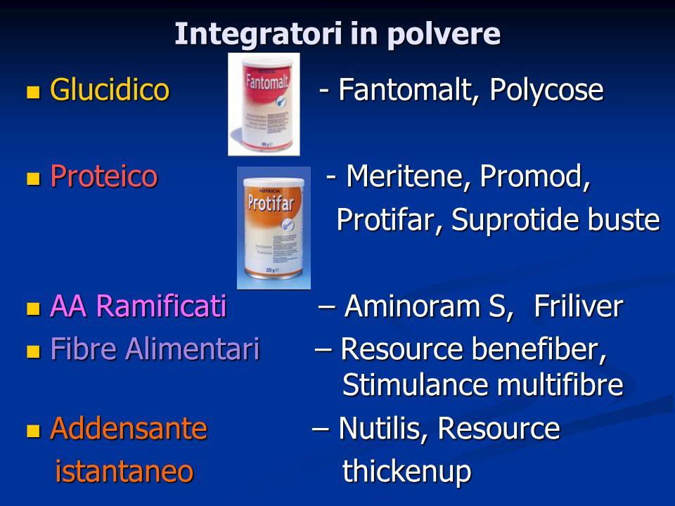 Integratori in polvere