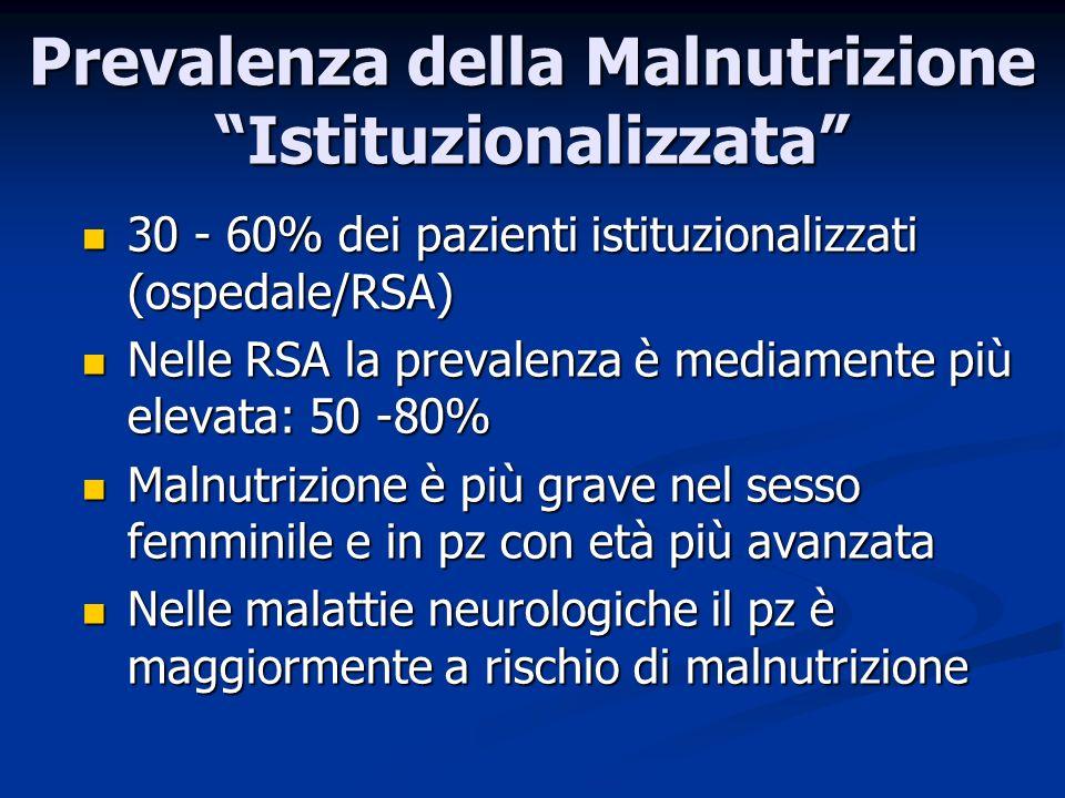 Prevalenza della Malnutrizione Istituzionalizzata