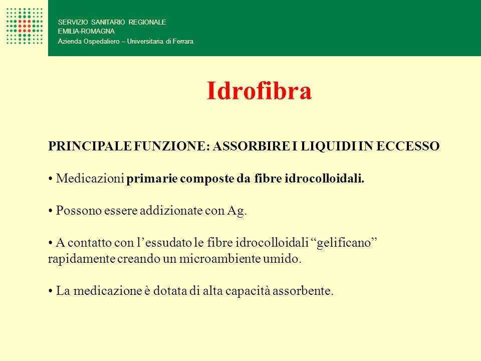 Idrofibra PRINCIPALE FUNZIONE: ASSORBIRE I LIQUIDI IN ECCESSO