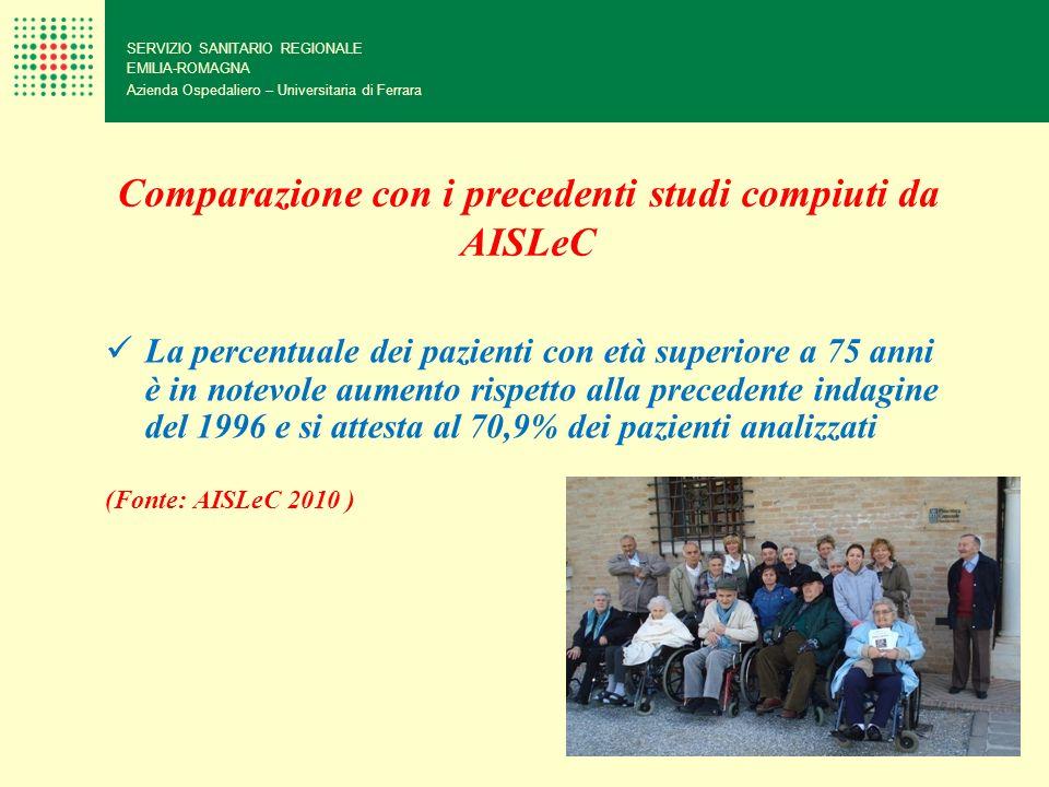 Comparazione con i precedenti studi compiuti da AISLeC