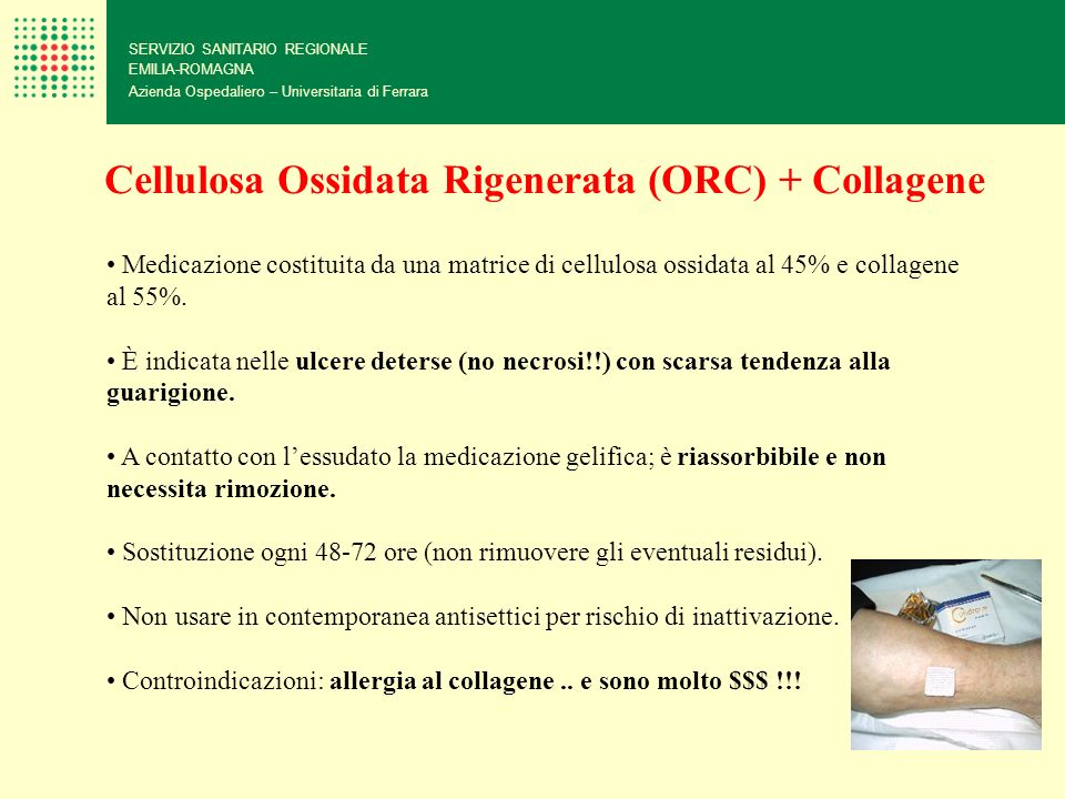 Cellulosa Ossidata Rigenerata (ORC) + Collagene