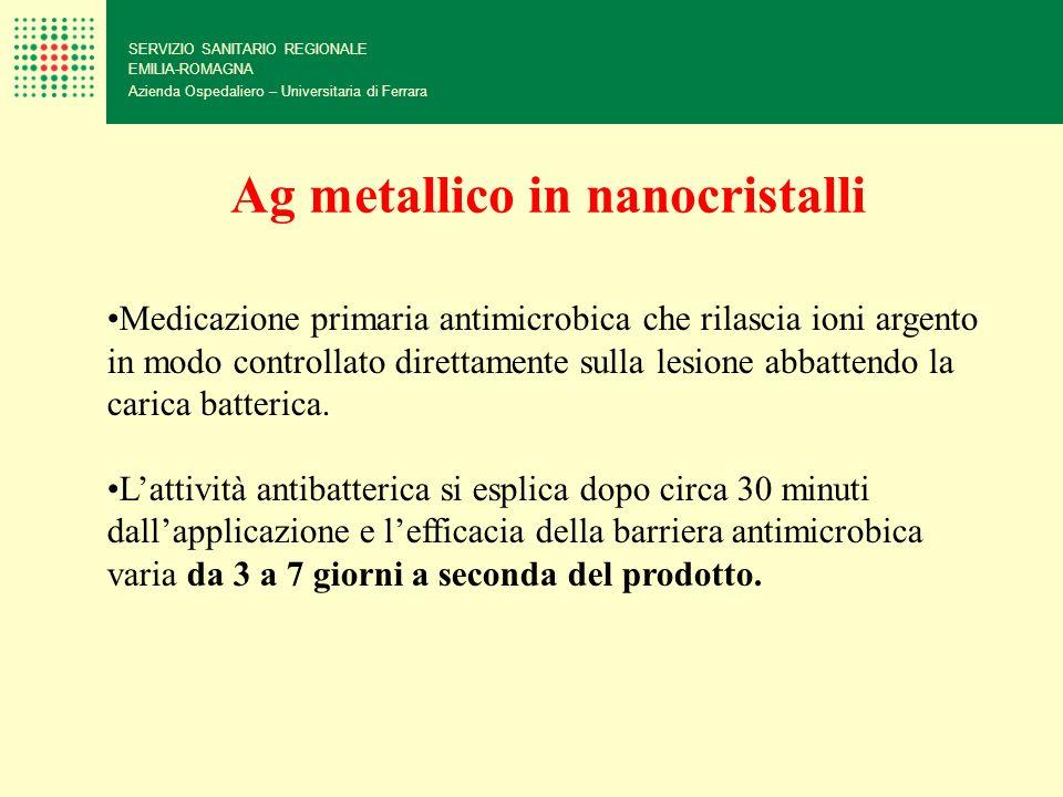 Ag metallico in nanocristalli