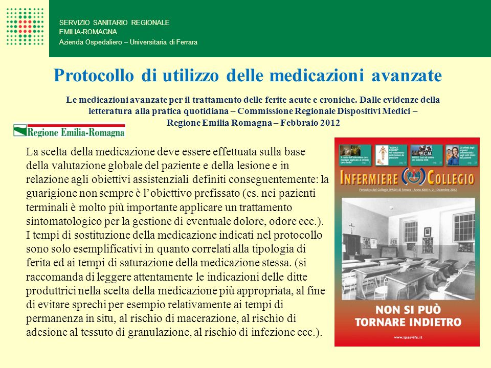 Protocollo di utilizzo delle medicazioni avanzate
