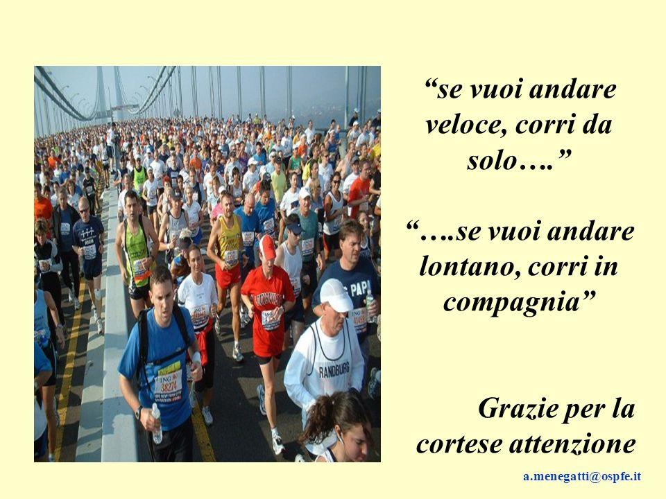 se vuoi andare veloce, corri da solo….