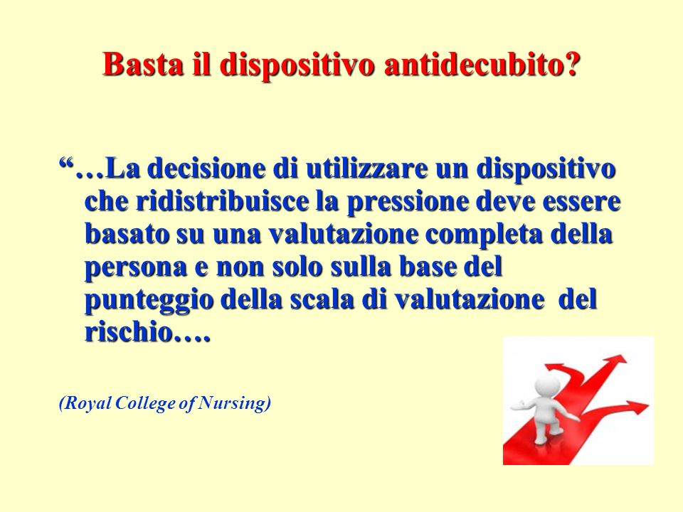 Basta il dispositivo antidecubito