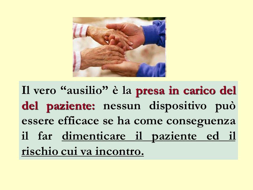 Il vero ausilio è la presa in carico del del paziente: nessun dispositivo può essere efficace se ha come conseguenza il far dimenticare il paziente ed il rischio cui va incontro.