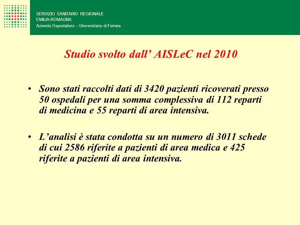 Studio svolto dall' AISLeC nel 2010