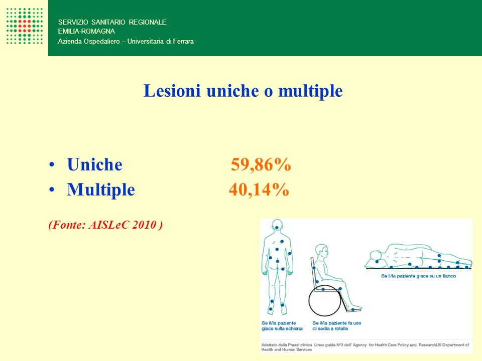 Lesioni uniche o multiple