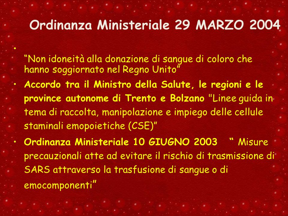 Ordinanza Ministeriale 29 MARZO 2004