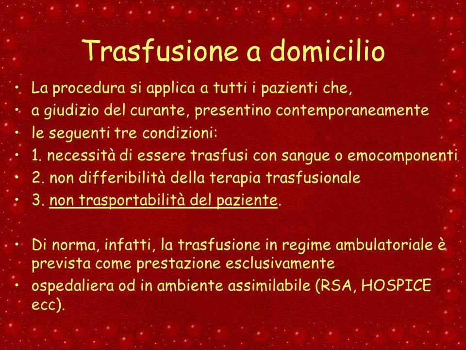 Trasfusione a domicilio