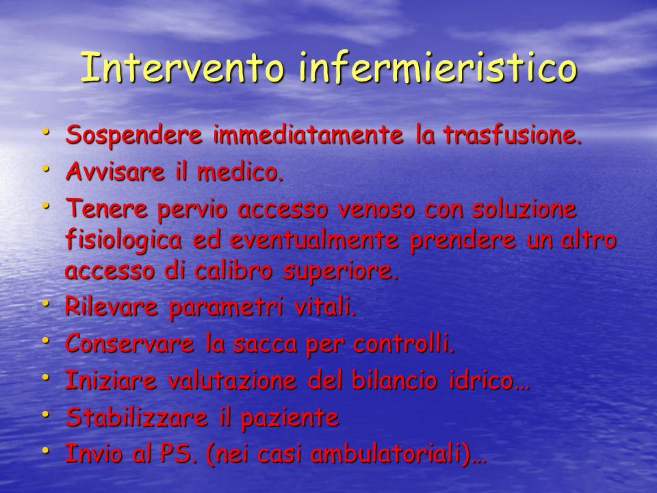 Intervento infermieristico