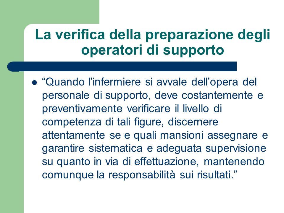 La verifica della preparazione degli operatori di supporto
