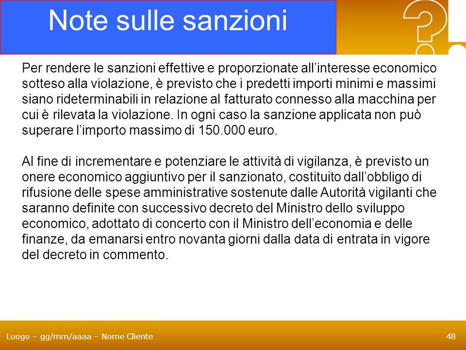 Note sulle sanzioni